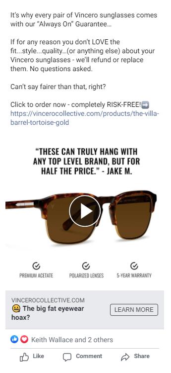 facebook ad size